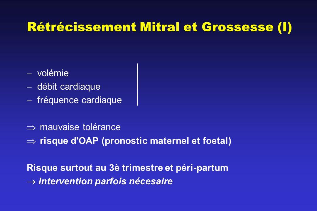 Rétrécissement Mitral et Grossesse (I)