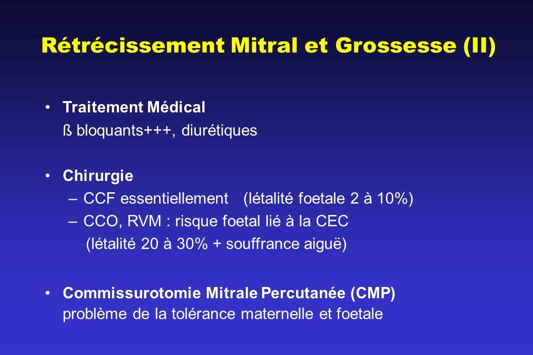 Rétrécissement Mitral et Grossesse (II)