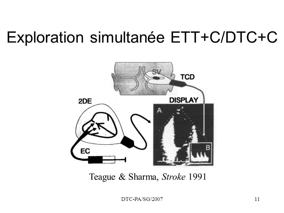 Exploration simultanée ETT+C/DTC+C