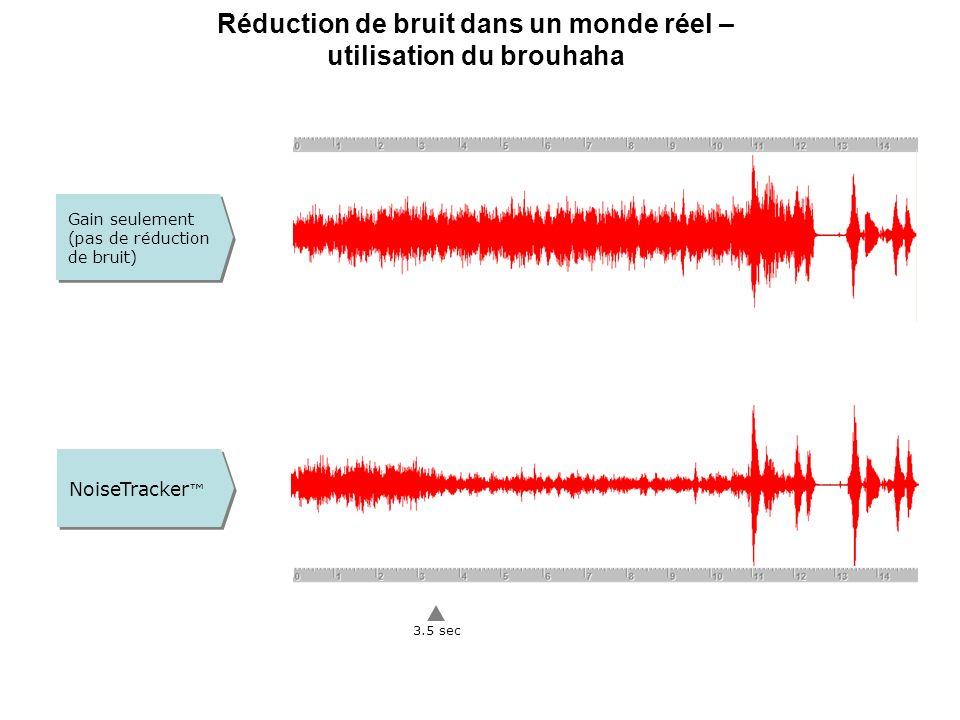 Réduction de bruit dans un monde réel – utilisation du brouhaha