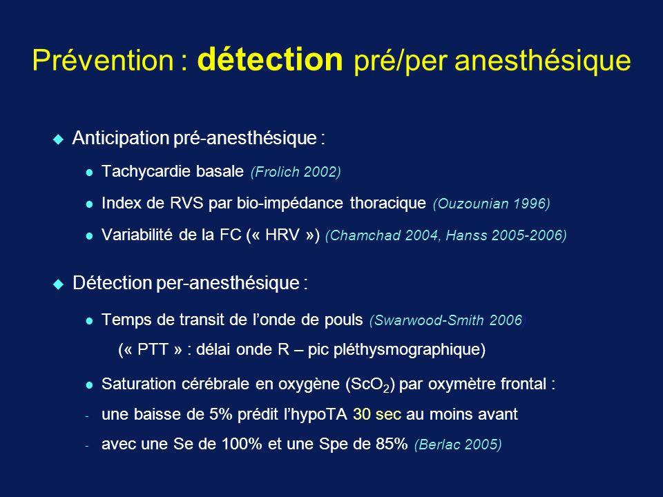 Prévention : détection pré/per anesthésique