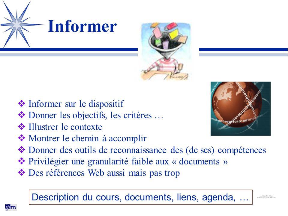 Informer Informer sur le dispositif