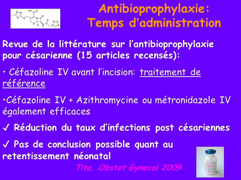 Antibioprophylaxie: Temps d'administration