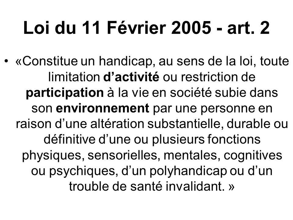 Loi du 11 Février 2005 - art. 2