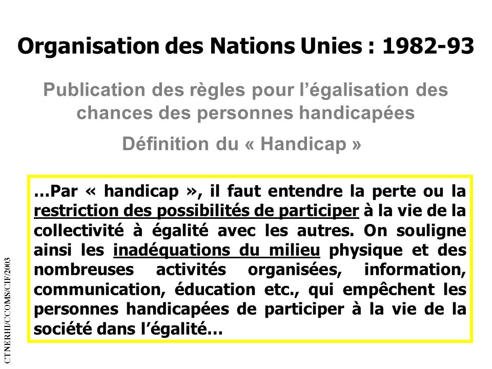 Organisation des Nations Unies : 1982-93