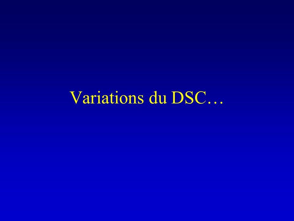 Variations du DSC…