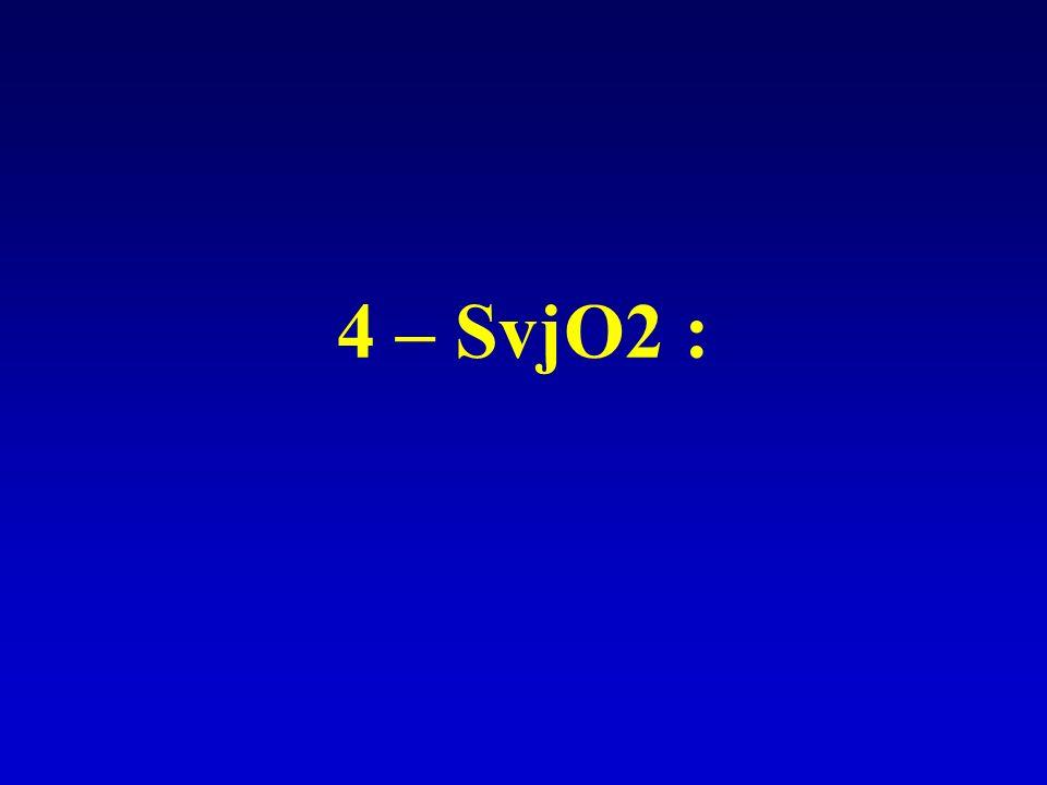 4 – SvjO2 :
