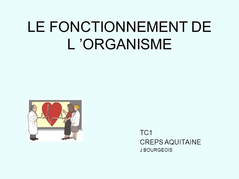 LE FONCTIONNEMENT DE L 'ORGANISME