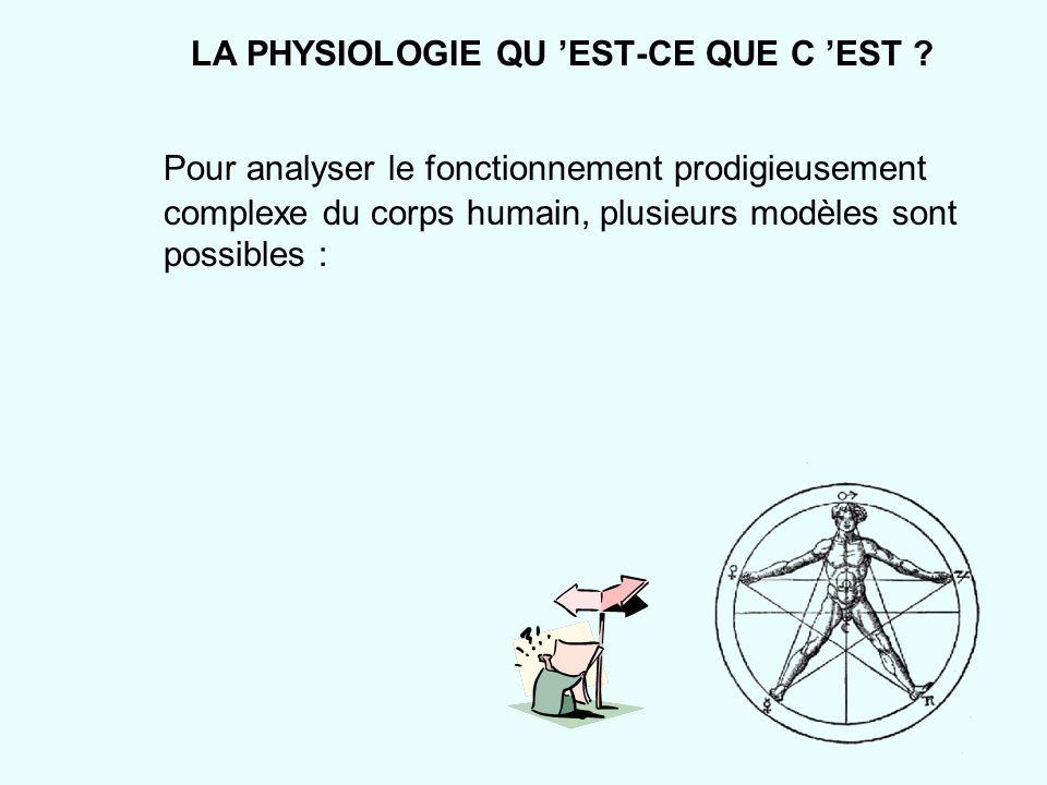 LA PHYSIOLOGIE QU 'EST-CE QUE C 'EST