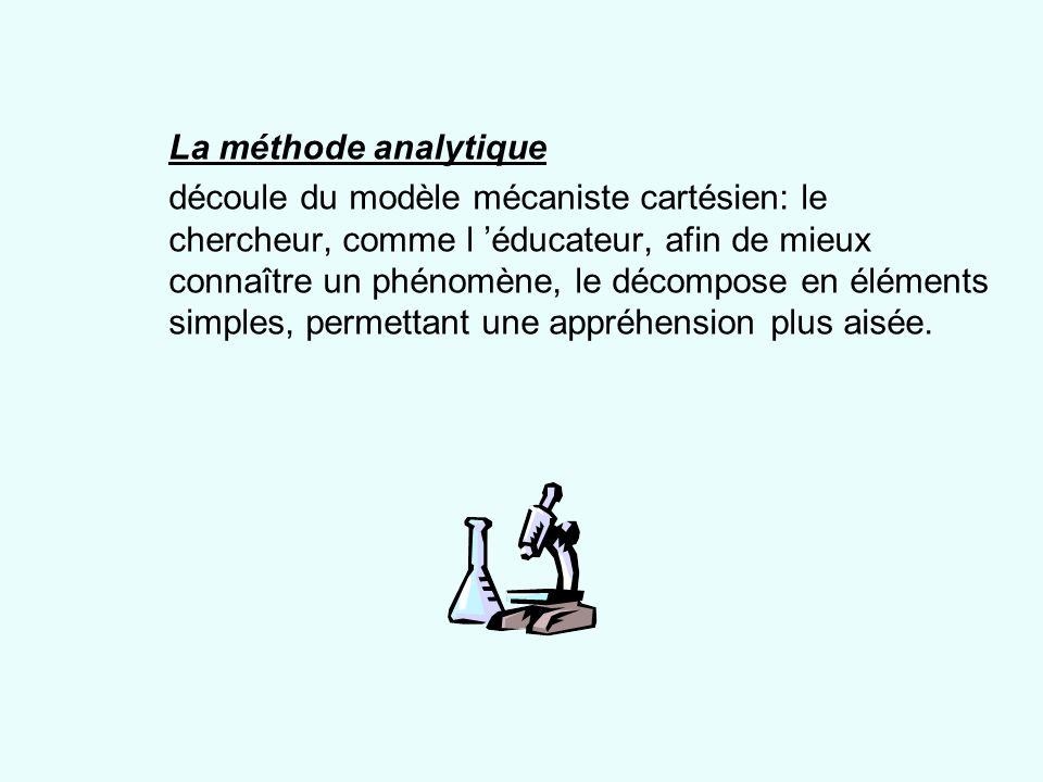 La méthode analytique