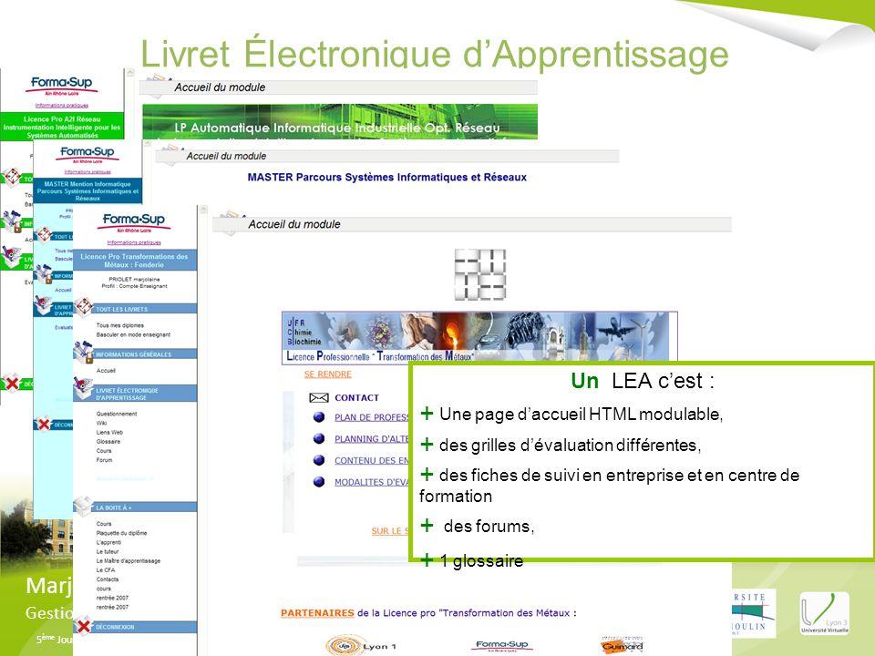 Livret Électronique d'Apprentissage