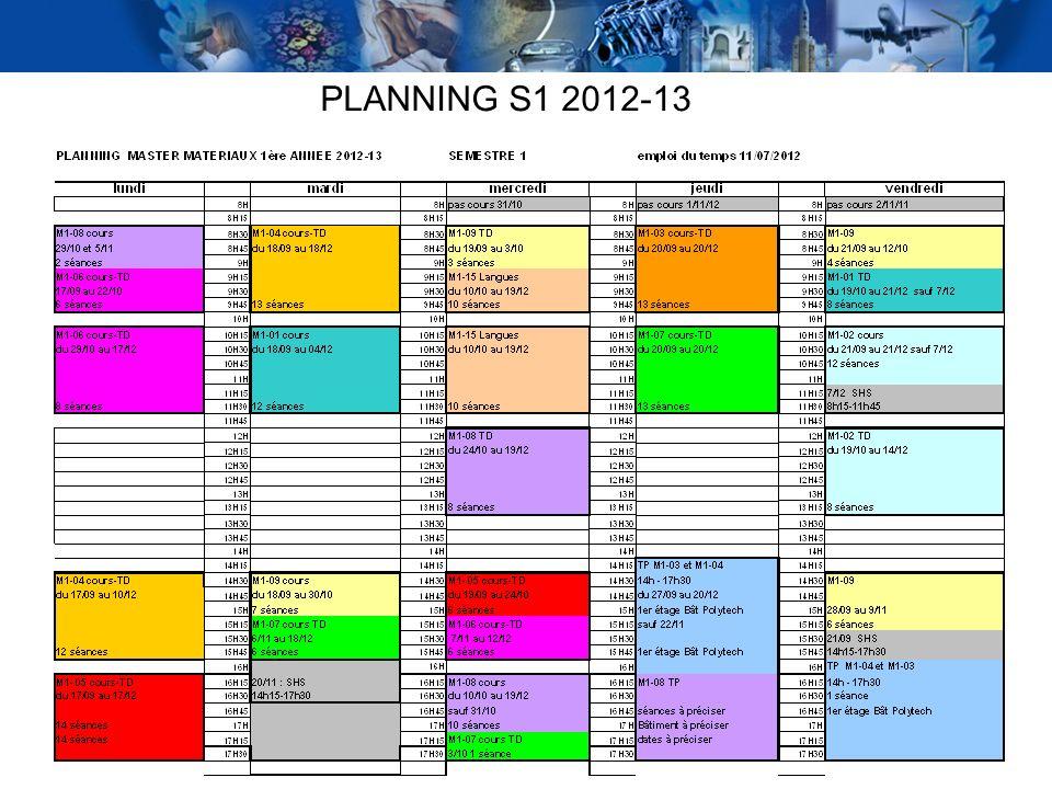 PLANNING S1 2012-13