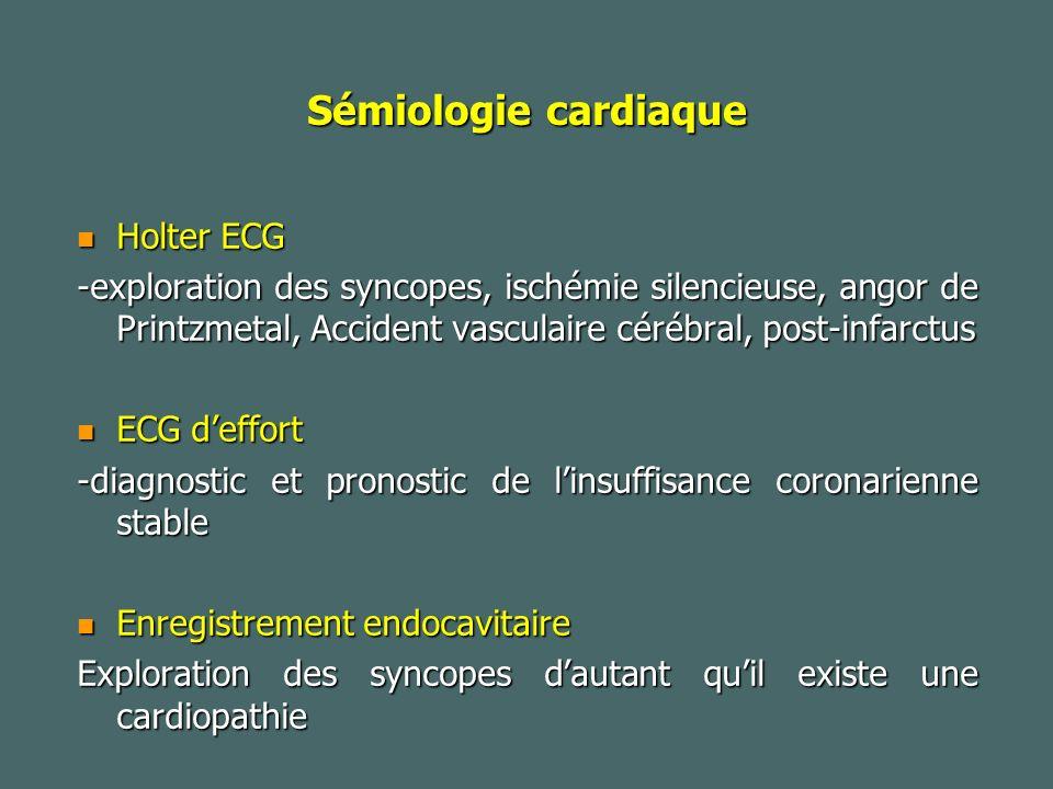 Sémiologie cardiaque Holter ECG