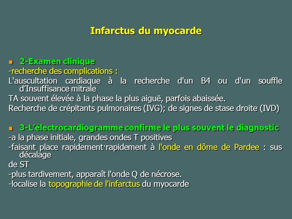Infarctus du myocarde 2-Examen clinique -recherche des complications :