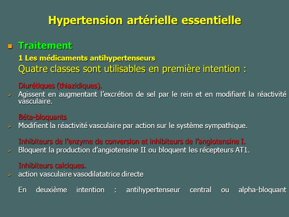 Hypertension artérielle essentielle