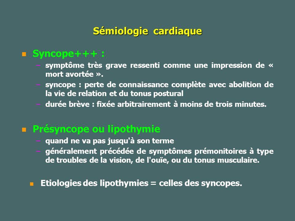 Présyncope ou lipothymie