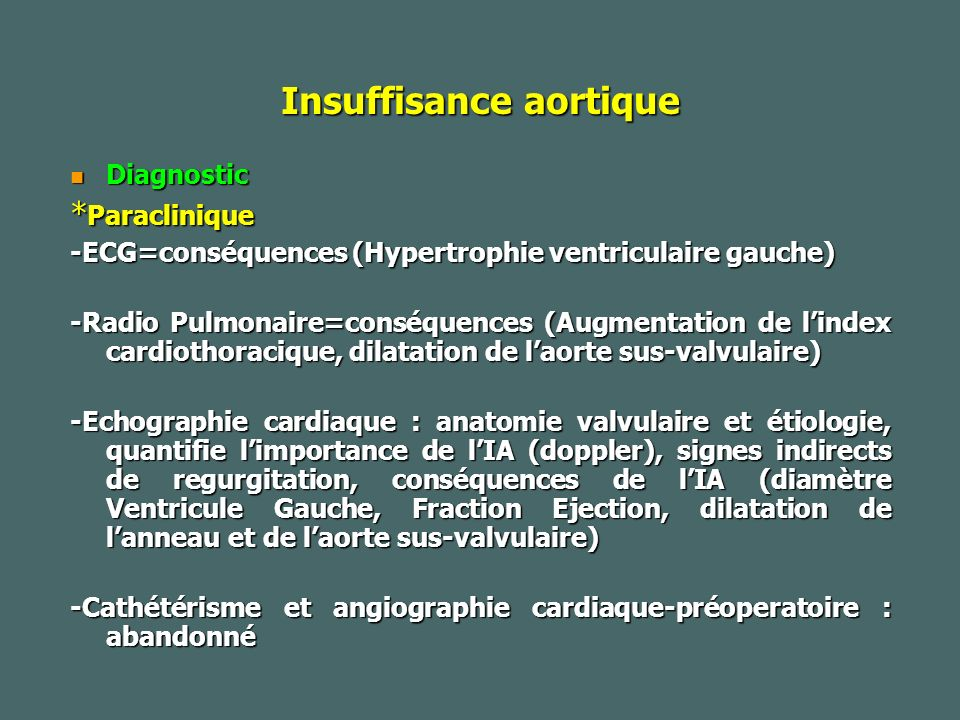 Insuffisance aortique