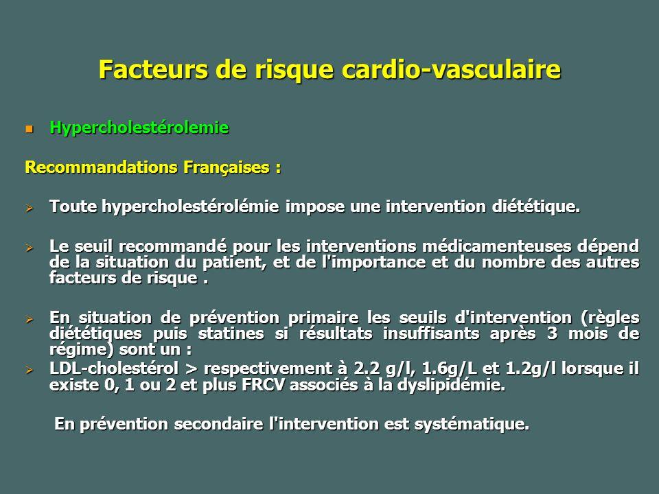 Facteurs de risque cardio-vasculaire