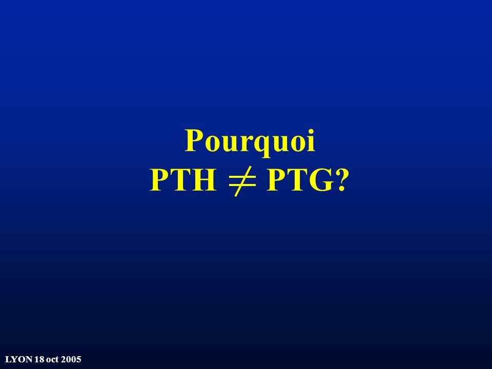 Pourquoi PTH PTG