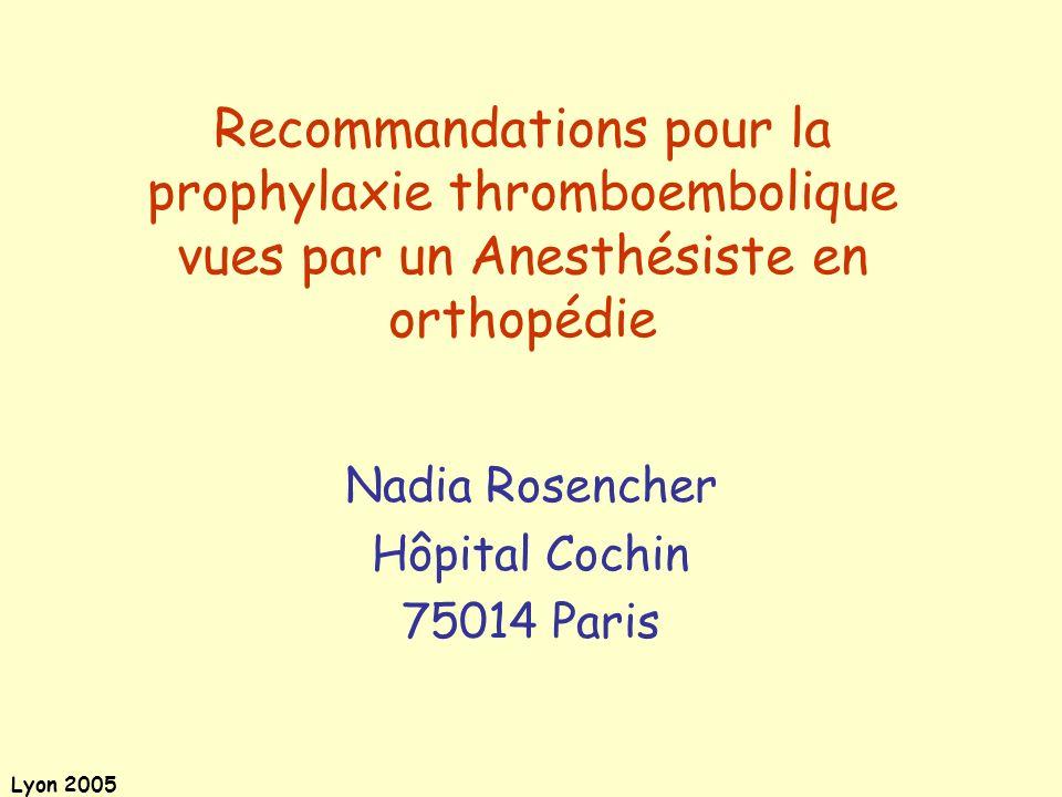 Nadia Rosencher Hôpital Cochin 75014 Paris