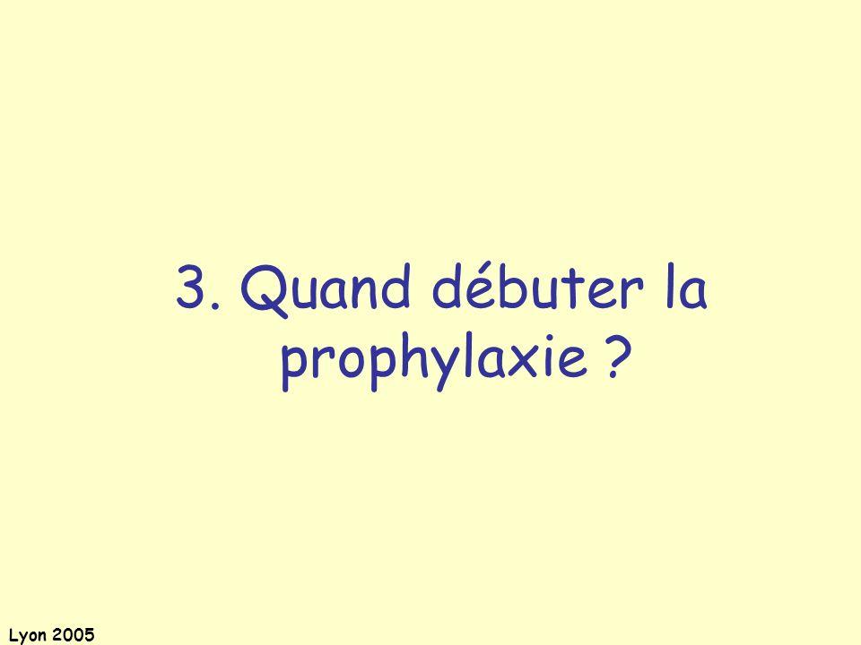 3. Quand débuter la prophylaxie