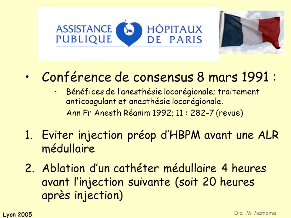 Conférence de consensus 8 mars 1991 :