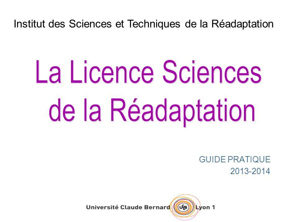 La Licence Sciences de la Réadaptation