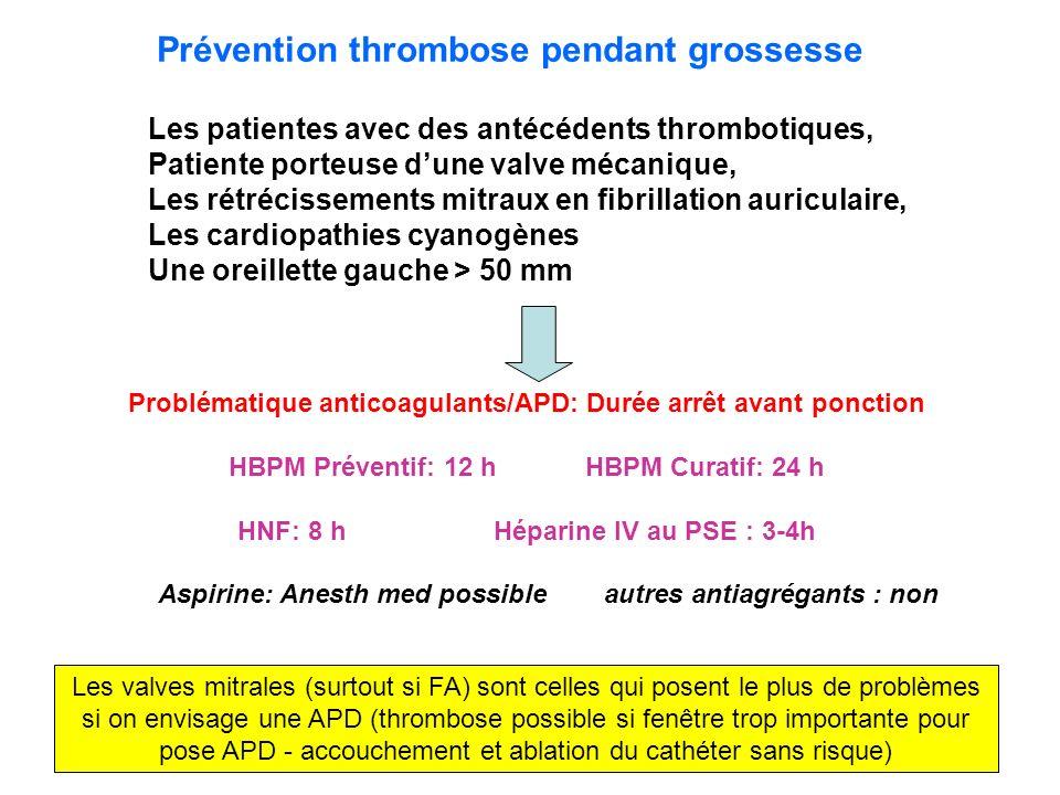 Prévention thrombose pendant grossesse