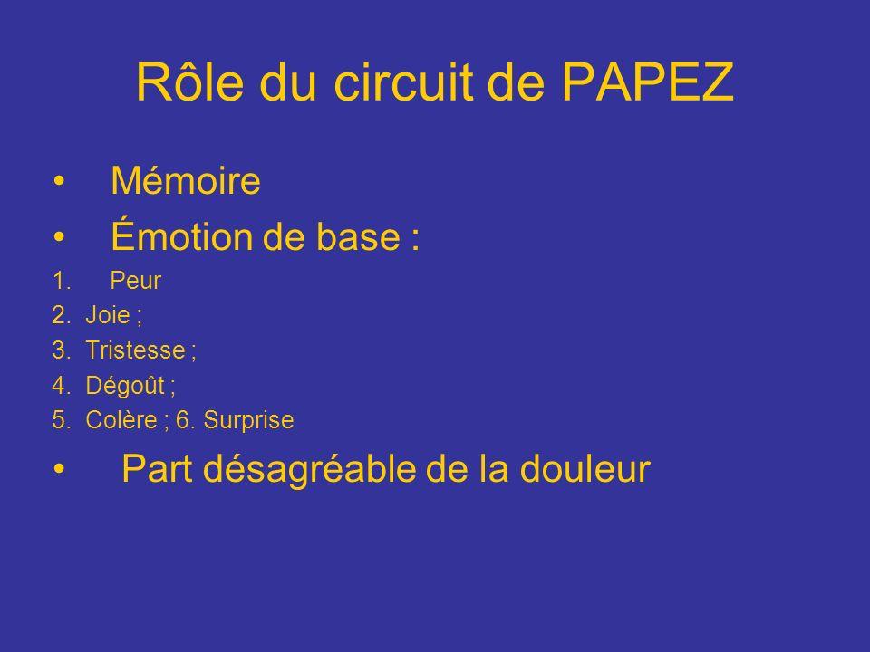 Rôle du circuit de PAPEZ