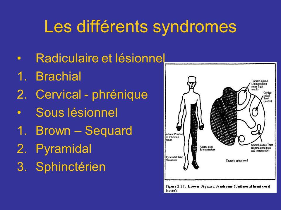 Les différents syndromes