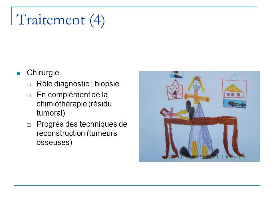 Traitement (4) Chirurgie Rôle diagnostic : biopsie