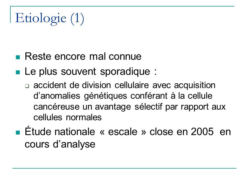 Etiologie (1) Reste encore mal connue Le plus souvent sporadique :