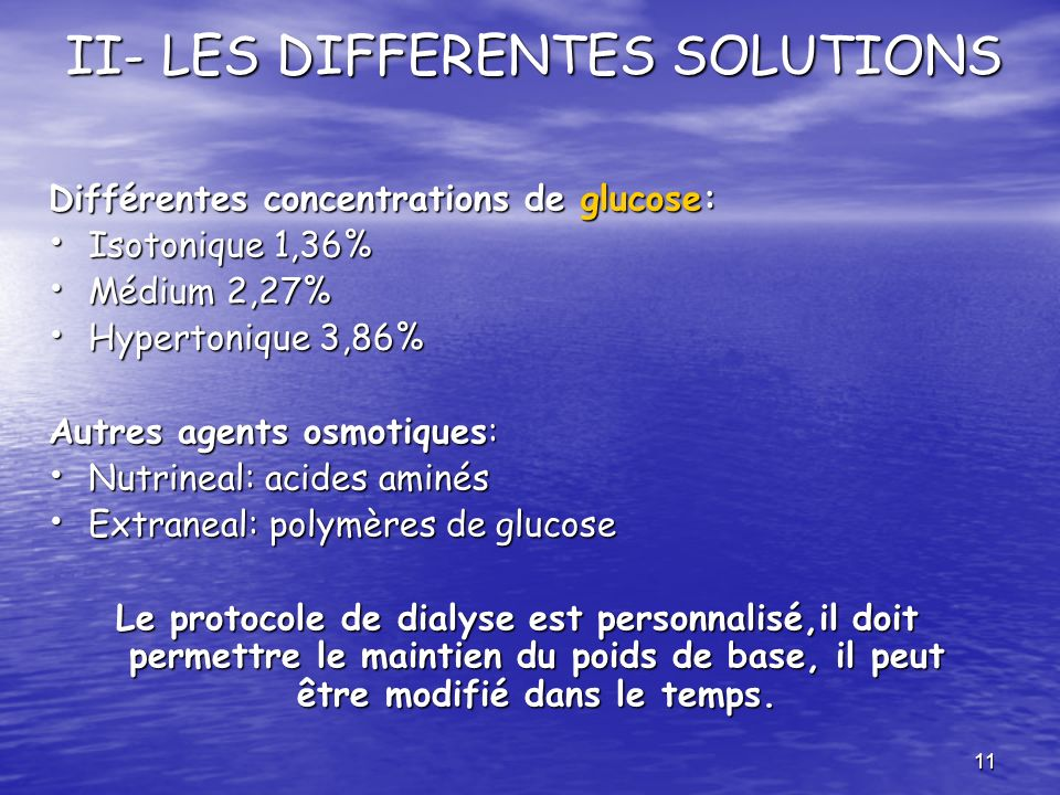 II- LES DIFFERENTES SOLUTIONS