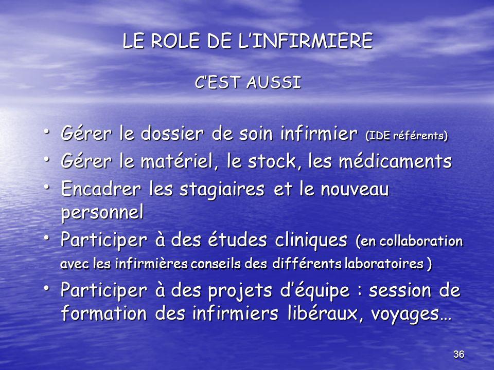 LE ROLE DE L'INFIRMIERE C'EST AUSSI