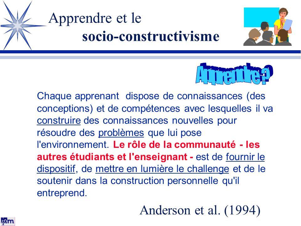 Apprendre et le socio-constructivisme
