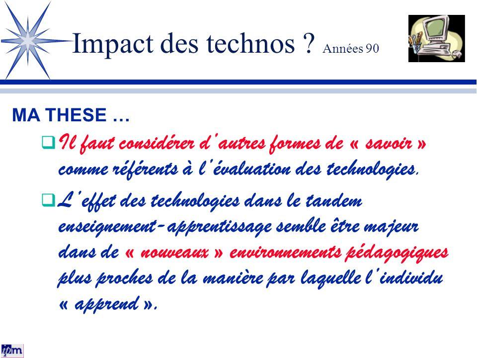 Impact des technos Années 90