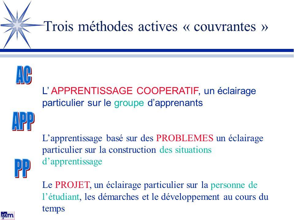 Trois méthodes actives « couvrantes »