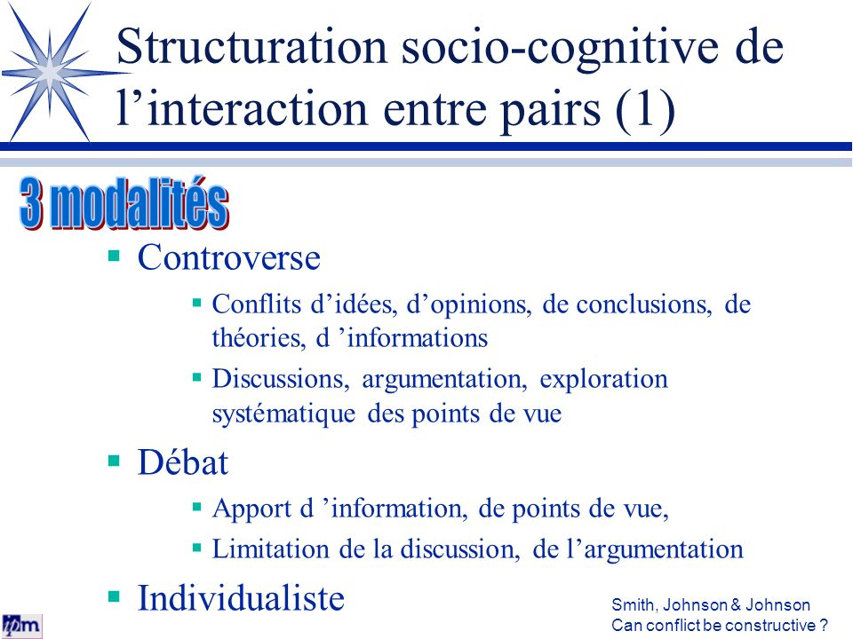 Structuration socio-cognitive de l'interaction entre pairs (1)
