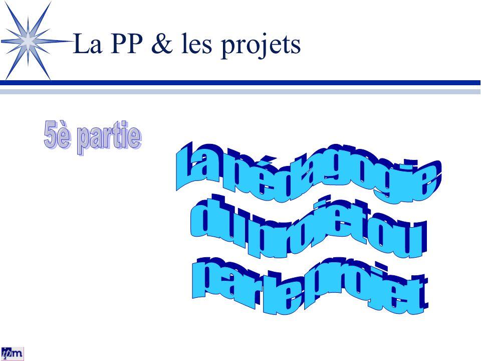La PP & les projets 5è partie La pédagogie du projet ou par le projet