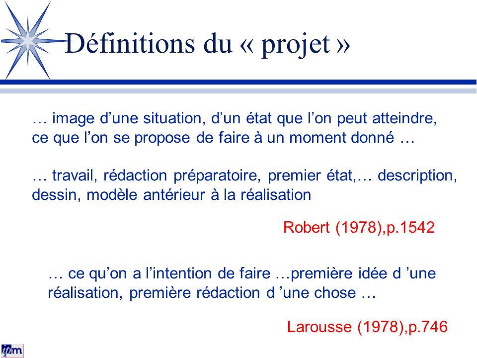 Définitions du « projet »