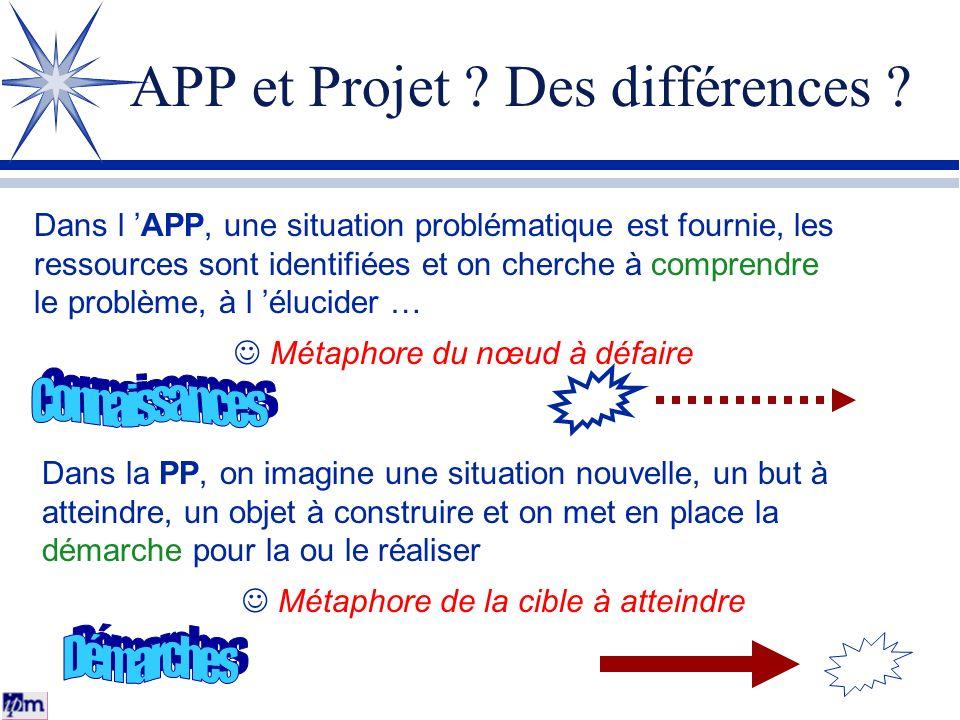APP et Projet Des différences