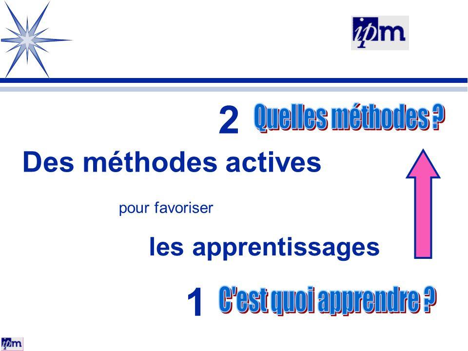 2 1 Des méthodes actives les apprentissages Quelles méthodes