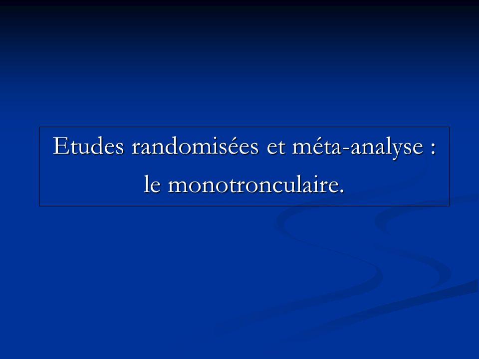 Etudes randomisées et méta-analyse : le monotronculaire.