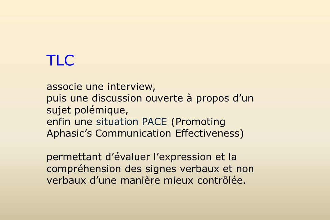 TLC associe une interview,