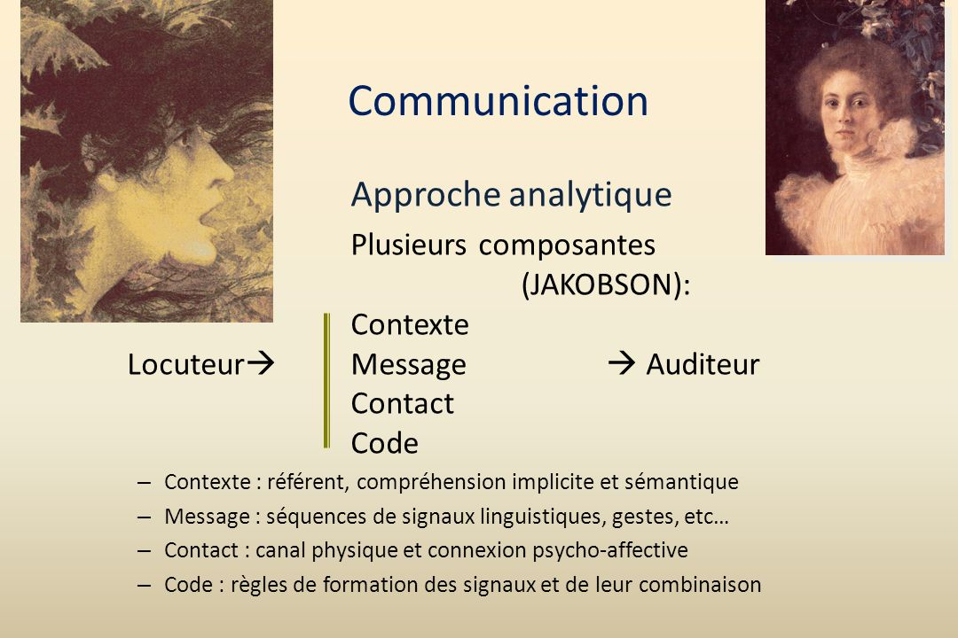 Communication Approche analytique