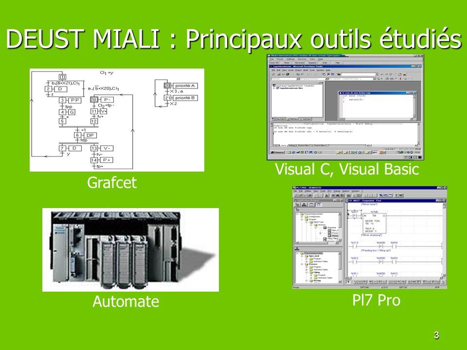 DEUST MIALI : Principaux outils étudiés