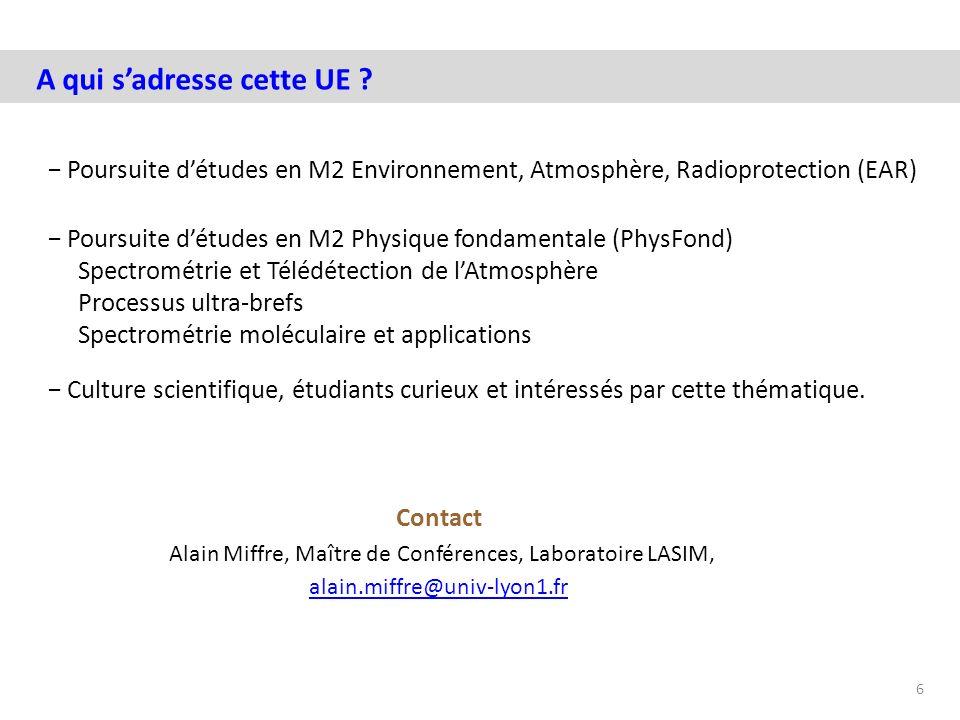 Alain Miffre, Maître de Conférences, Laboratoire LASIM,