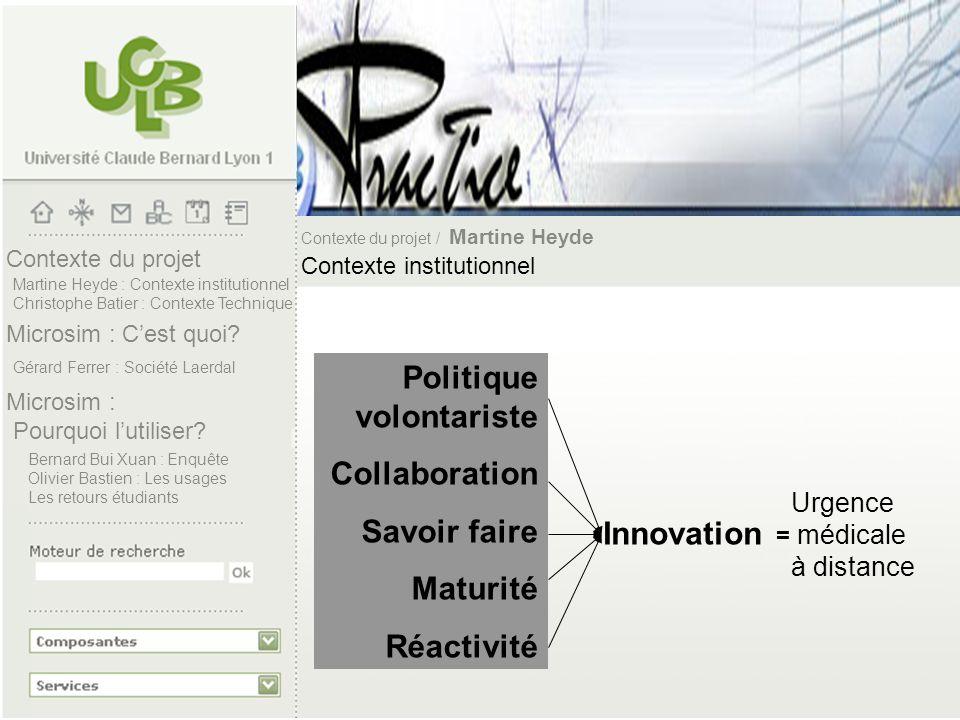 Politique volontariste Collaboration Savoir faire Maturité Réactivité