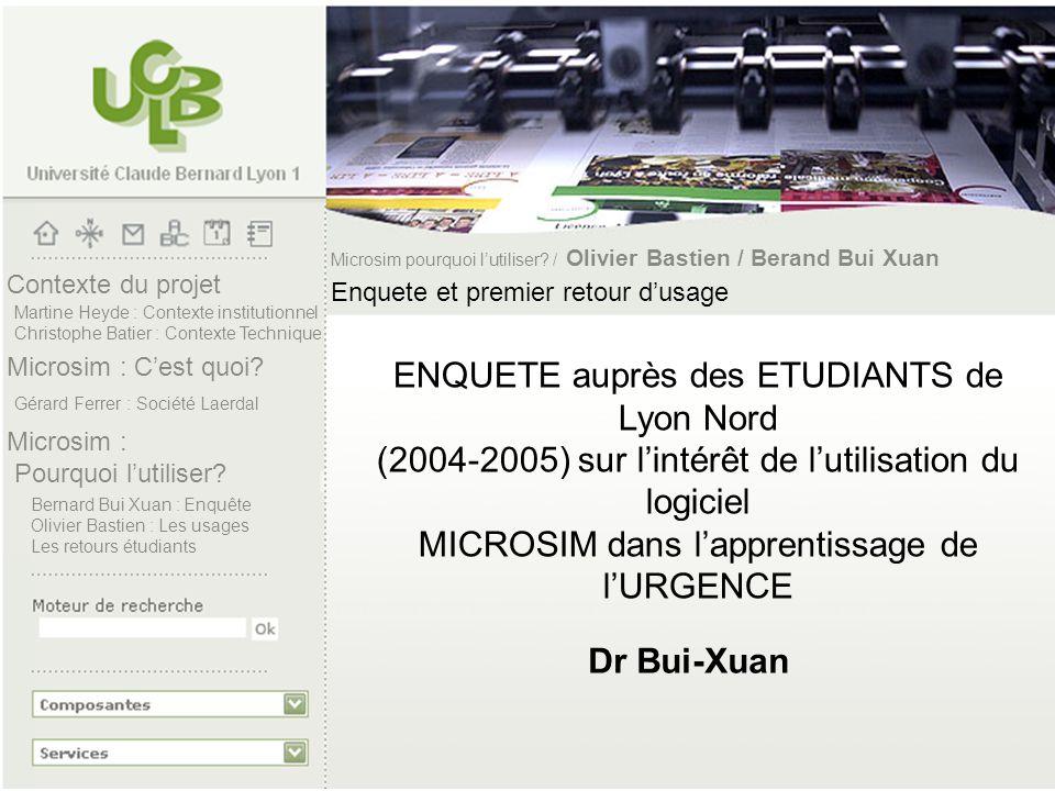 Microsim pourquoi l'utiliser / Olivier Bastien / Berand Bui Xuan