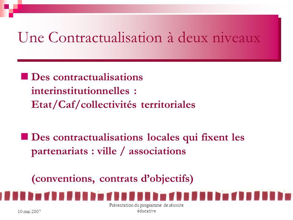 Une Contractualisation à deux niveaux